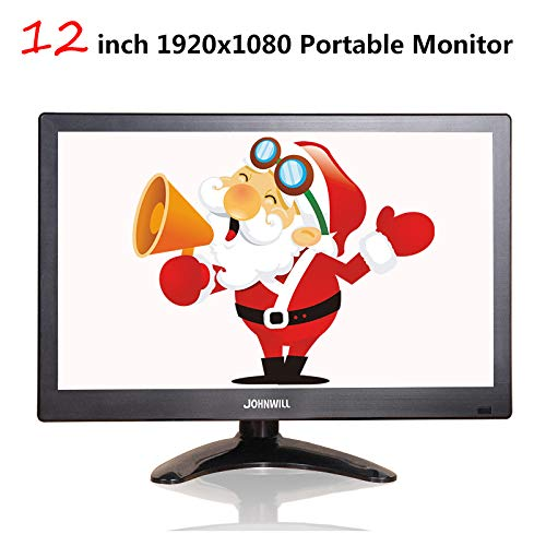 12 Inch LCD Portable HDMI-monitor VGA-interface 1920x1080 Gaming display voor Macbook Pro CCTV Home Security System PS4 Xbox360