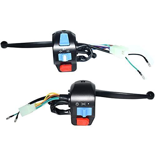 LIUHONGSU 7/8'Interruptor de Control del Volante de Arranque eléctrico Izquierdo y Derecho del Interruptor del Manillar de la Motocicleta