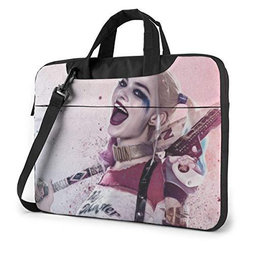15.6 inch Laptop Shoulder Briefcase Messenger Ha-rl-ey Qu-in-n Ci-ty Tablet Bussiness Carrying Handbag Case Sleeve
