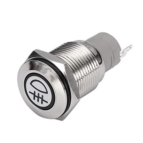 12V 3A 16 mm Coche LED iluminado Metal CHIZZARD PUSH Botón Interruptor Blu-Ray Frontal delantero FOG FOTT SPOT SPOT SPOT SPOT BOTÓN DE BOTÓN (Color : Rear Fog Light)