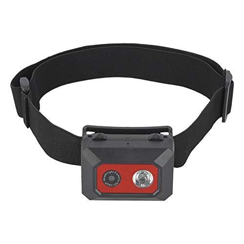 VbestLIFE Hoofdtelefoon gemonteerde camera, 1080P HD headset action camcorder met led-nachtlampje, SOS-modus, fotografie voor sportkampers in de buitenlucht