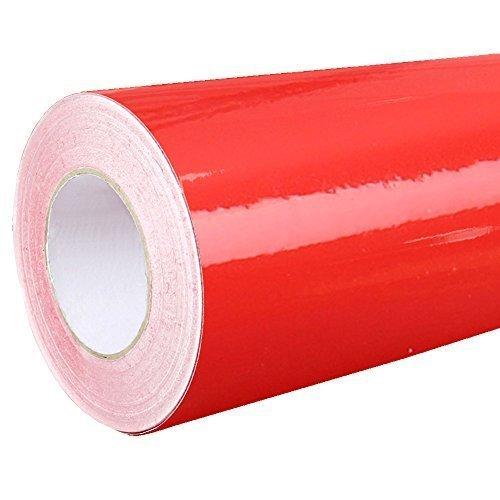 Rapid Teck® 4,75€/m² Glanz Folie - 031 Rot - Klebefolie - 5m x 63cm - Folie Selbstklebend - Plotterfolie - Auch als Moebelfolie