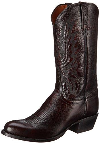 Lucchese Bootmaker Men's Carson-bc Lonestar Calf Cowboy Riding Boot, Black Cherry, 10.5 D US
