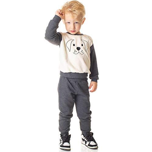 Conjunto Moletom Infantil Menino Calça e Blusa Pelo (3)