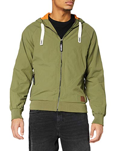 Amazon-Marke: Hikaro Herren Jacke mit Mesh, Grün (Khaki), XXL, Label:XXL