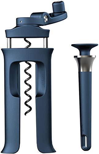 Abridor de botellas de vino tinto, abridor de botellas fácil de operar y una conveniente operación de 360 grados,Blue