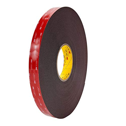 """3m 1.5"""" (38mm, 1-1/2"""")) X 9 Ft VHB Double Sided Foam Adhesive Tape 5952 Grey Automotive Mounting Very High Bond Strong Industrial Grade"""