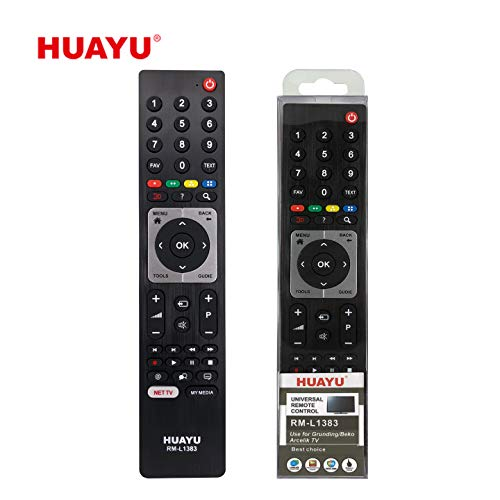 Huayu RM-L1383 Universele afstandsbediening voor GRUNDIG BEKO ARCELIK TV 3d netflix-knop