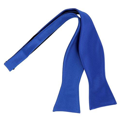 CravateSlim Noeud Papillon à Nouer Bleu roi Premium - Noeud Papillon Homme Mariage et Cérémonie Bleu royal, électrique - A nouer soi-même