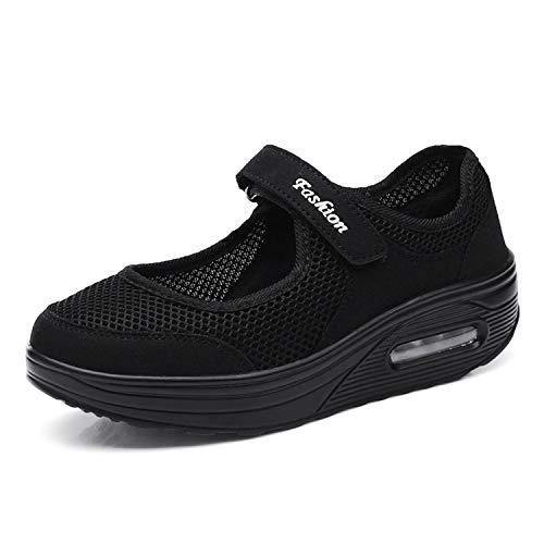 Kauson Damen Sneakers Schaukelschuhe Mesh Erhöhung Schuhe Weiche Bottom Rocking Schuhe Turnschuhe Freizeitschuhe Damenschuhe Sport Schuhe 35-42 Outdoor Walking Schuhe Sale Sommerschuhe