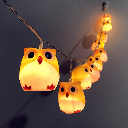WAWAYU Decorative Lights, Halloween Owl Strings Thanksgiving Carnival Christmas Party Garden Decoration Lantern Usb (Color : C)