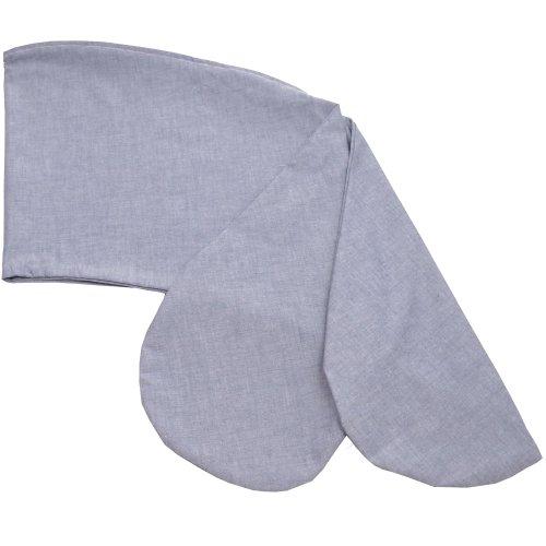 Sugarapple Stillkissenbezug 180 cm, Bezug für alle Stillkissen 180cm und Theraline das Komfort, 100% Baumwolle mit Reißverschluss, Oxford dunkelblau