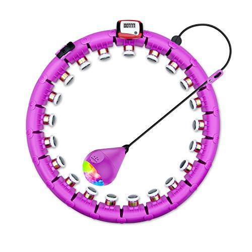 WaBand Hula Hoop, Smart Gewichtsverlust Hula Hoop, fällt Nicht, 24 bewegliche und verstellbare Hula Hoops, verwendet für Gewichtsverlust und Fitness