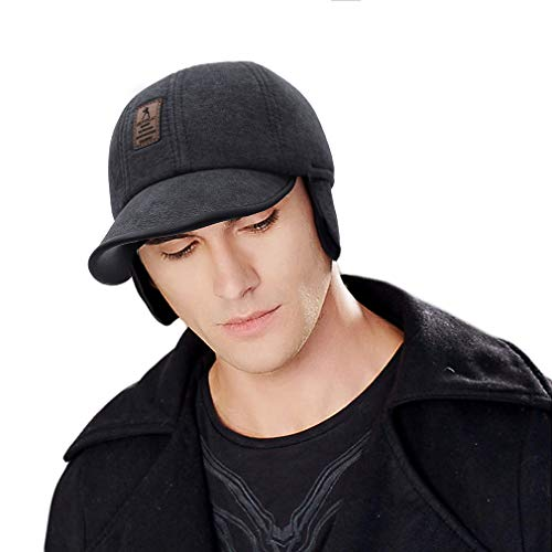 DEMU Baseballcap wintermuts met oorbescherming schermpet met vizier paraplu-pet oorkleppen