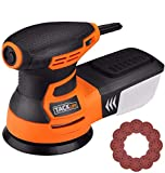 Orbital Sander, Tacklife 350W 13000 RPM 125mm Random Orbital Sander with High Performance Dust Collector, 6 Variable Speeds, 12Pcs Velcro Sanding Discs, 3M Power Cord, Ideal for DIY/PRS01A