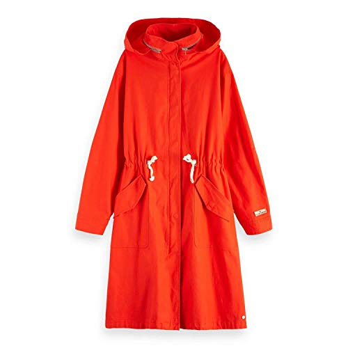 Maison Scotch Damen Mantel Longer Length Festival Jacket 149991 Tomato XS