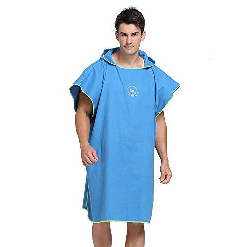 SHANNA, Poncho Cambiador de Toalla para Surf, natación, Traje de baño, Ropa de Playa compacta y de Secado rápido, Talla única, Azul