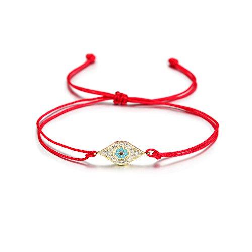 Wistic Hamsa Evil Eye Adjustable Bracelet Kabbalah Silver String Bracelet for Women Men