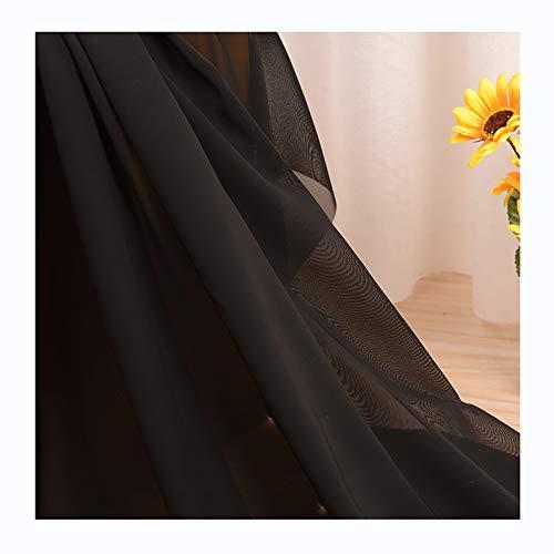Tejido de Gasa de Color Puro Suave y Elegante Transparente Falda Ropa Tela de Forro de Verano-Vendido por Metros (150cm de Ancho)