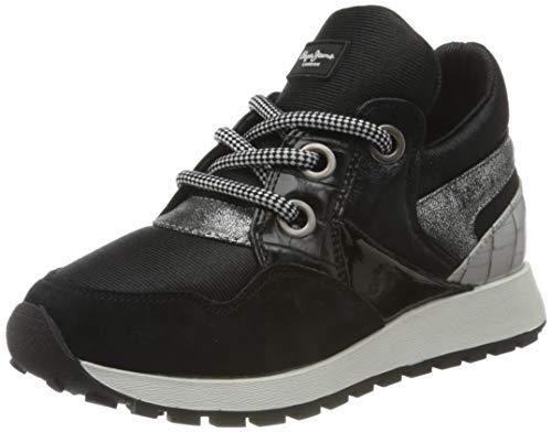 Pepe Jeans London Damen Dean Shion Sneaker, 999BLACK, 41 EU