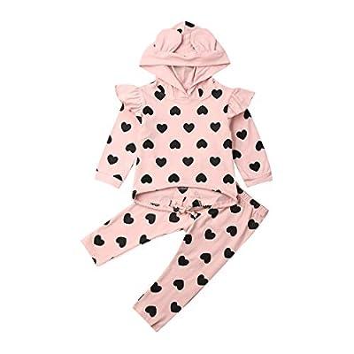 Amazon - Save 70%: Baby Toddler Girls Hoodie Long Sleeve Outfits Sweatshirt & Pants Newb…