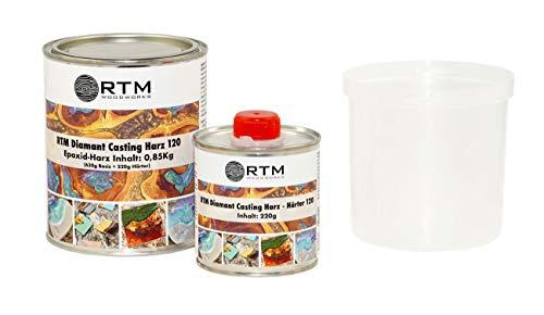 RTM WOODWORKS Diamant Casting 3D 2 Komponenten Epoxid Gießharz 120 Harz & Härter 0,5 kg, Gewicht kg:0.5 kg