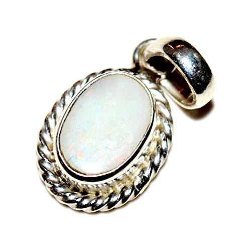 55Carat Halskette mit Anhänger, 6 Karat, oval, 92,5 Sterling Silber
