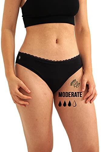 Cool Period Menstruations-Unterhosen, saugfähig, waschbar, umweltfreundlich, Menstruationsregeln (Culotte-Côtelée_2XL)