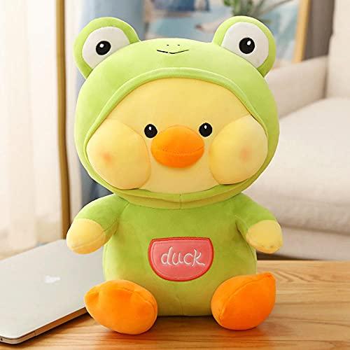 Net Red Duck Doll Sleep con Peluche Almohada súper Suave para consolar a Las niñas corazón Baby Doll Bed Boys Cute-Green_60 cm [algodón de Calidad Abajo]