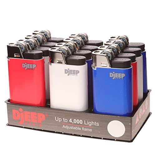 12 Red, White and Blue Djeep Lighters