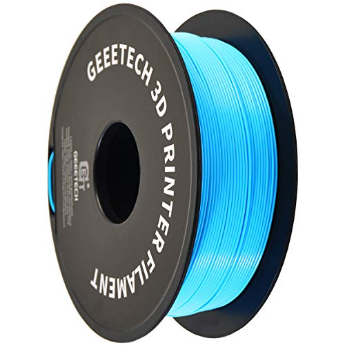 PLA Filament 1.75mm Water Blue, Geeetech Neat Line 3D Printing Filament PLA for 3D Printer and 3D Pen, 1kg 1 Spool