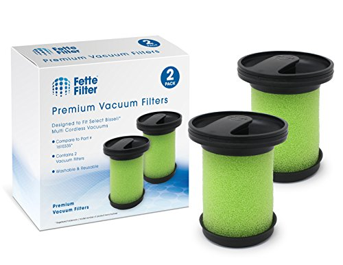Fette Filter - Vacuum Filter Compatible with Bissell 1610335 Multi Cordless. Compare to Part # 161-0335. (Pack of 2)