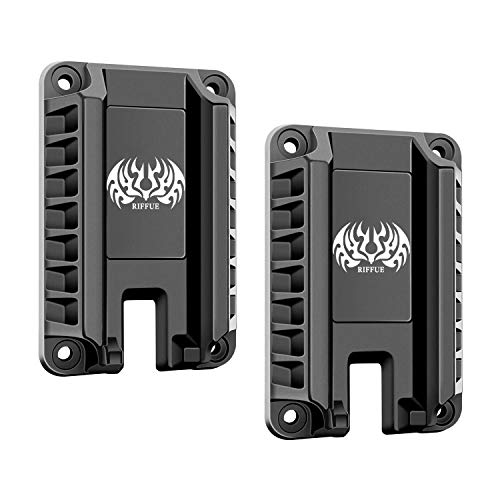 RIFFUE Magnetic Gun Mount, Gun Magnet Mount Holster Magnetic Handgun Mount Holder - Concealed Tactical Firearm Accessories Quick Load & Draw for Self Defense, Using in Vehicle, Trucks, Car, Wall, Desk