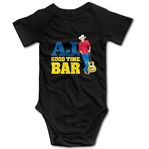 U are Friends Combi-Short bébé Enfant Barboteuse pour bébé de Alan Jackson Newborn Girl Boy(0-3M,Noir)