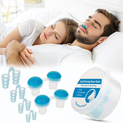 Anti Snoring Nose Vents Plugs, Anti Snoring Devices, Stop Snoring Solution Snore Stopper Set with Nasal Dilators Sleep Аid Device Solution for Comfortable Sleeping Snore Reducing Man and Women