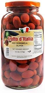Red Bella di Cerignola Olives - Large Jar (4.2 pound)
