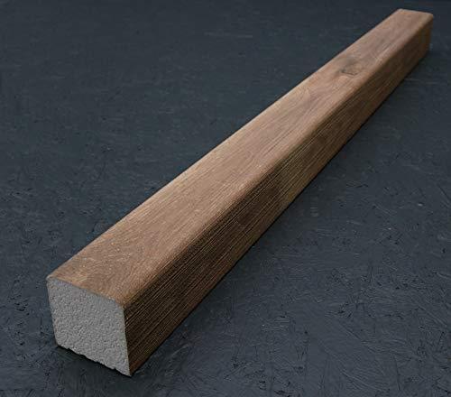 Holzbalken 9cm x 9cm x 120cm (1,5kg) aus Styropor, Kantholz für Wohnzimmer, Küche, Gewerbe, innen & außen – Amsterdam