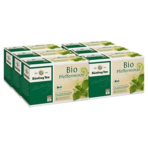 Bünting Bio Pfefferminze Tee Beutel 20St. 6er Pack