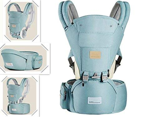 Ergonomic 360° Baby Soft Carrier, Comfortable Adjustable Positions,Breastfeeding Fits All Newborn Toddler,HipSeat Infant Child Carrier, All Seasons,Perfect for Hiking Shopping Travelling(Green)