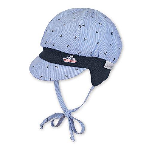 Sterntaler Ballonmütze für Jungen mit Bindebändern und Anker-Motiv, Alter: 5-6 Monate, Größe: 43, Blau