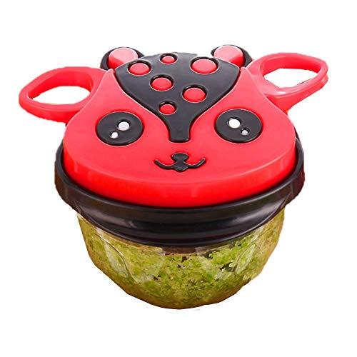 LIYANG Mini Trituradora De Verduras Manual Procesador de Alimentos Mini Mezclador de la Mano Chopper Ensalada de Verduras, Cebolla, Hierbas y Frutos Secos Picadora Manual De Cocina