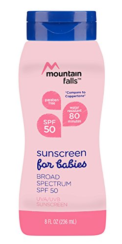 Mountain Falls Sunscreen Lotion for Babies, SPF 50 Broad Spectrum UVA/UVB Protection, Compare to Coppertone, 8 Fluid Ounce