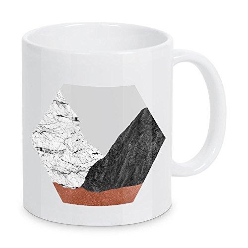 artboxONE - Taza de café abstracto de mármol octagón de Orara Studio