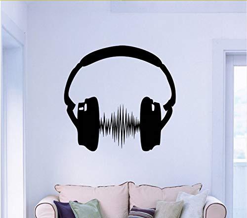 Kyzaa koptelefoon stickers kunst stickers slaapkamer modern huis interieur decoratie muziek stickers voor geluid decoratie muur behang