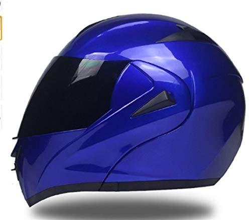 Casco de motocicleta con lunares, casco de motocicleta con doble lente y lente abatible, casco de motocross, casco de cara completa para hombres y mujeres