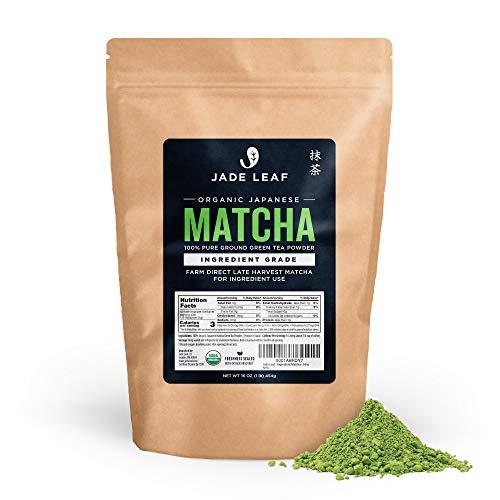 Jade Leaf - Organic Japanese Matcha Green Tea Powder, Ingredient Grade (1 Pound)