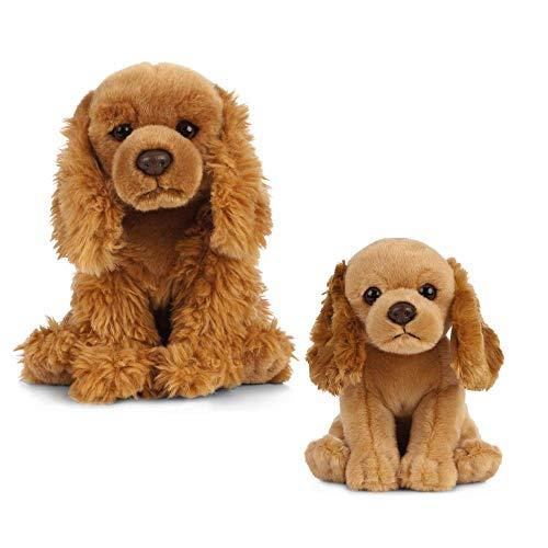 Living Nature pluche speelgoed voor honden en puppy's Cockerspaniel Bundle honing