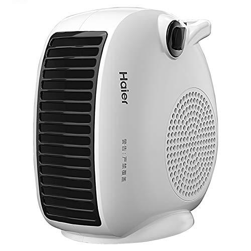 Calentador de espacios 1000W / 2000W portátil eléctrico calentador de sitio con termostato ajustable inteligente de control de temperatura de sobrecalentamiento Protección silencioso escritorio adecua