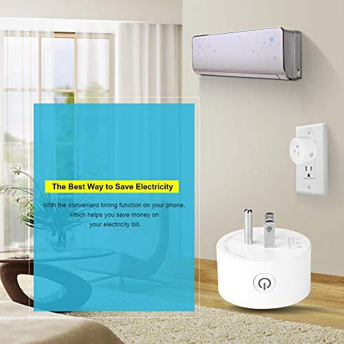 Labuda Enchufe de Pared de Uso de bajo Consumo de energía de 100-240 V, Enchufe Inteligente, Dispositivo de hogar Inteligente para/iOS para Control de Dispositivo de hogar hogar Inteligente
