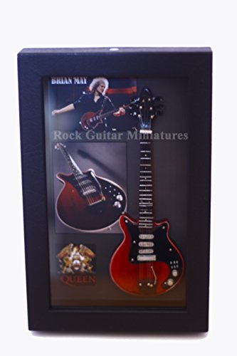 Unbekannt RGM8852 Brian May Queen Miniature Guitar Collection in Shadowbox Frame